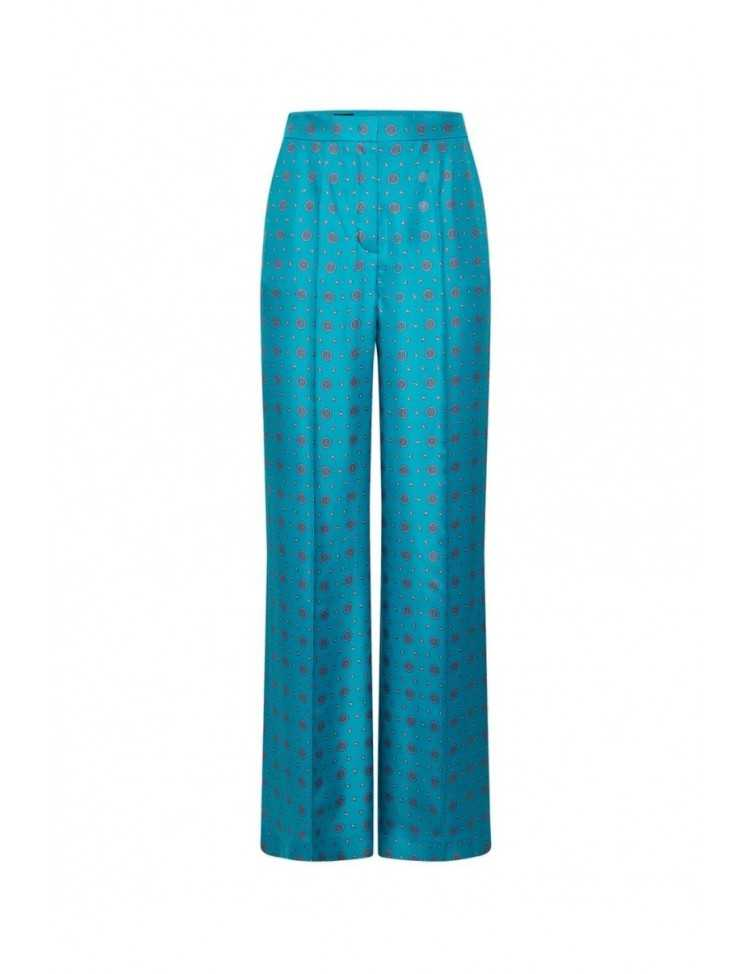 escada - pantalon - bleu - soie - femme - toulouse