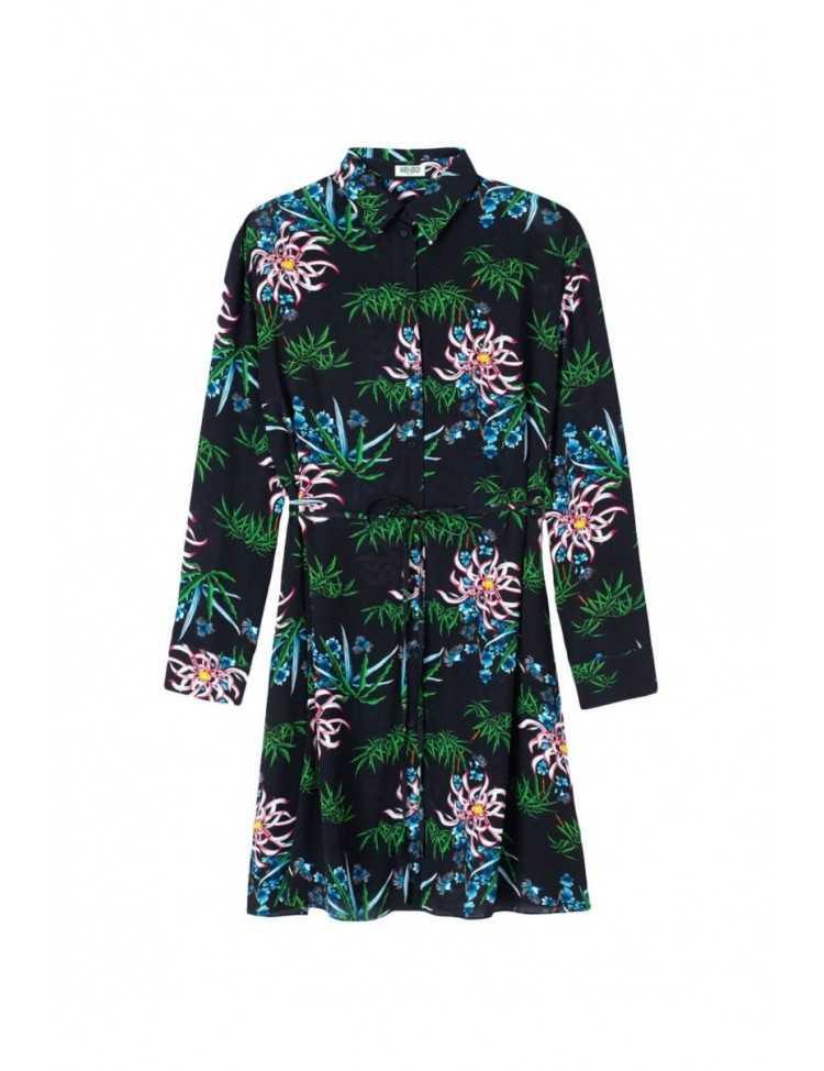 kenzo - robe - noire - femme - toulouse