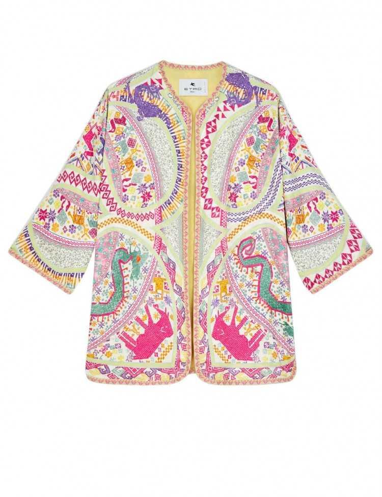 Veste en Jersey de Soie Imprimée Multicolore | Etro pour Femme Toulouse