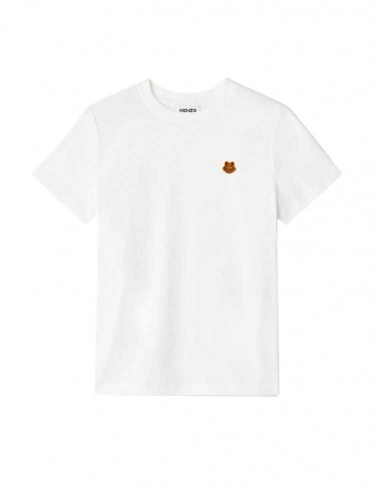 T-shirt Blanc Tiger Crest Brodé   Kenzo pour Femme à Toulouse